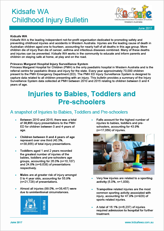 Bulletin - Injuries to Babies Toddlers and Pre-schoolers