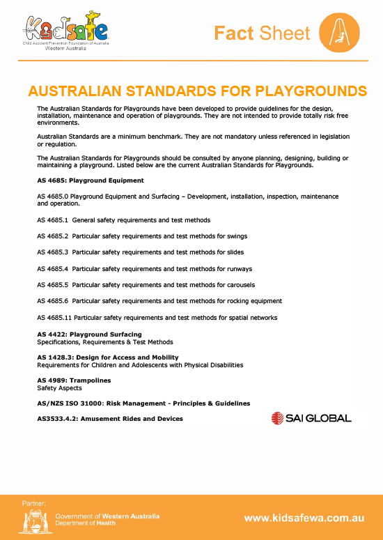 Australian Standards for Playgrounds
